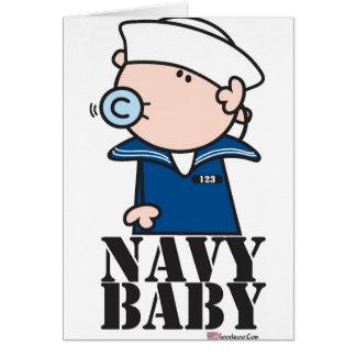 Goochicoo - bebé de la marina de guerra felicitacion