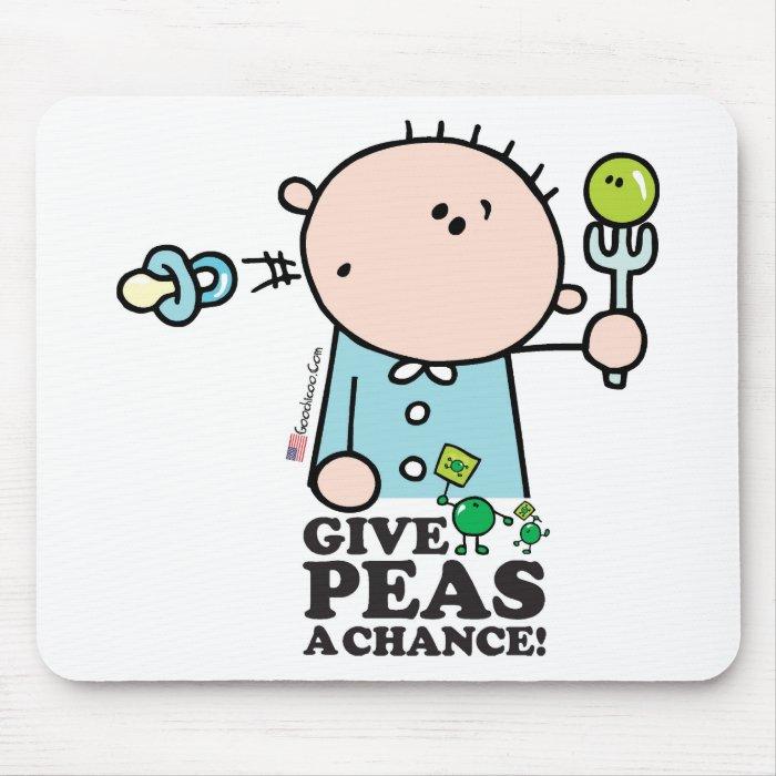 GoochiCoo - Give Peas A Chance Mouse Pad