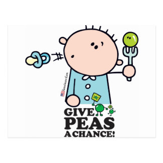 GoochiCoo - Give Peas A Chance Post Cards