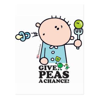 GoochiCoo - Give Peas A Chance Postcards