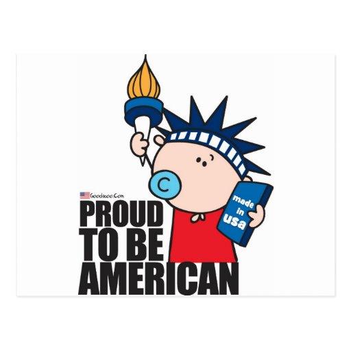 goochicoo - orgulloso ser americano tarjetas postales