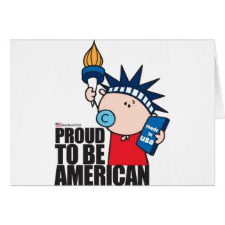 goochicoo - orgulloso ser americano tarjetón