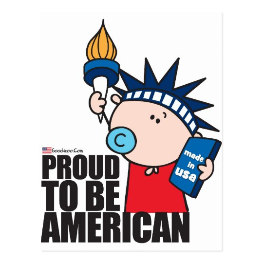 GoochiCoo - Proud To Be American Postcard