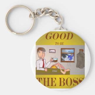 Good 2b the Boss Basic Round Button Keychain