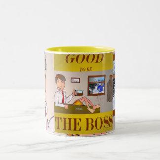 Good 2b the Boss Two-Tone Coffee Mug