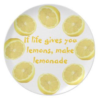 Good Advice ~ Make Lemonade Plates