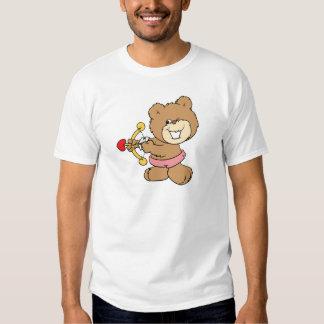good aim winking cupid teddy bear design tshirts