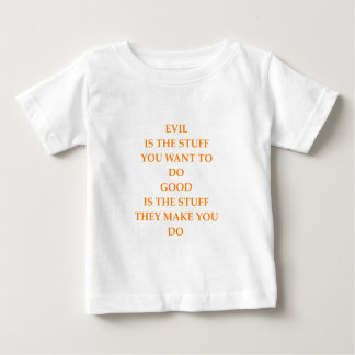 good and evil baby T-Shirt