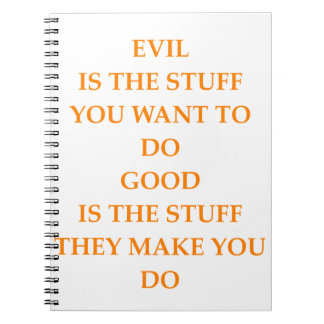 good and evil notebook