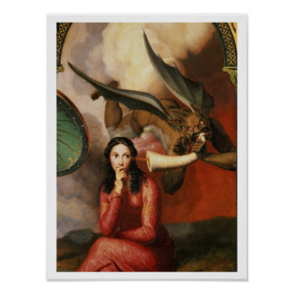 Good and Evil: the Devil Tempting a Young Woman, 1 Poster
