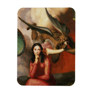 Good and Evil: the Devil Tempting a Young Woman, 1 Vinyl Magnets