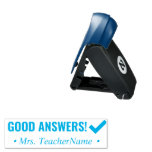 """[ Thumbnail: """"Good Answers!"""" Teaching Assistant Rubber Stamp ]"""
