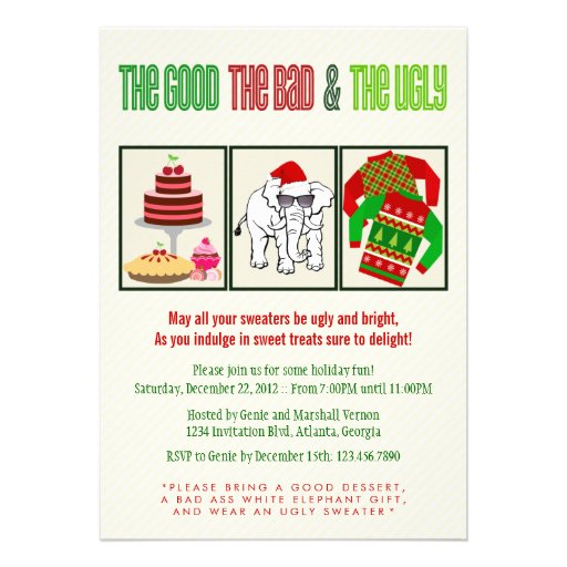 Good Bad Ugly Holiday Party Invite
