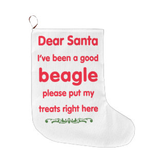 good beagle large christmas stocking