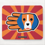 Hand shaped Good Beagle Mouse Pad