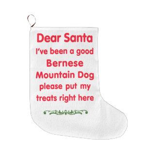 good Bernese Mountain Dog Large Christmas Stocking