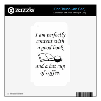 Good Book And Coffee Decal For iPod Touch 4G