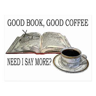 GOOD BOOK, GOOD COFFEE POSTCARD