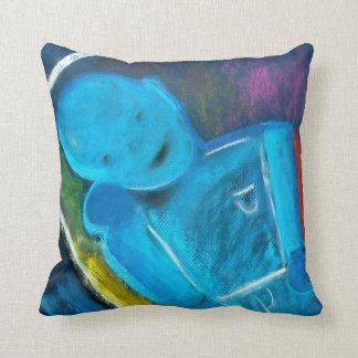Good Bot Bad Bot Throw Pillow by Brad Hines Design