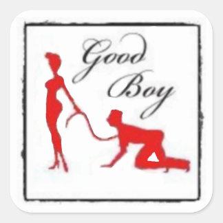 Good Boy Square Sticker
