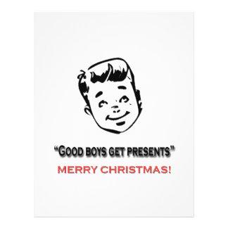 Good boys get presents flyer