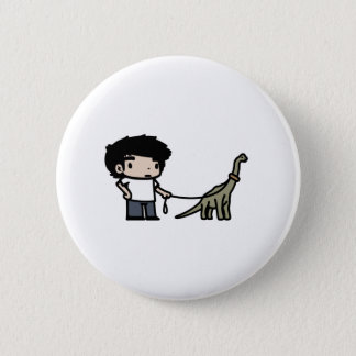 Good Brachiosaurus Pinback Button