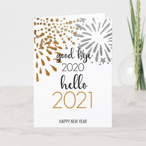 Good Bye 2020 Hello 2021 | Festive Fireworks Holiday Card