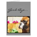 Good Bye Boxer dog greeting card