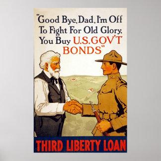 Good bye, Dad ~ Vintage World War 1. Poster