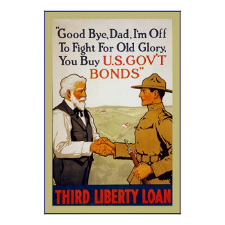 Good bye, Dad ~ Vintage World War 1 Poster