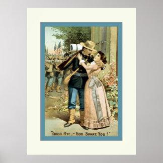 Good bye, - God spare you!~Vintage Civil War Poster