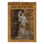 Good-Bye, Good Luck, God Bless You Card