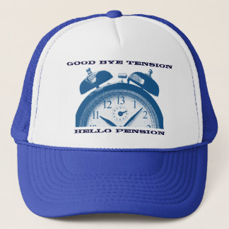 Good bye tension, hello pension trucker hat