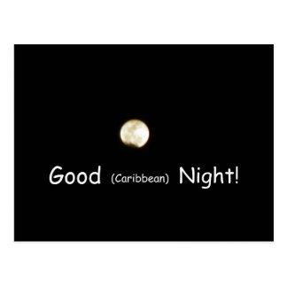 Good (Caribbean) Night! Postcard