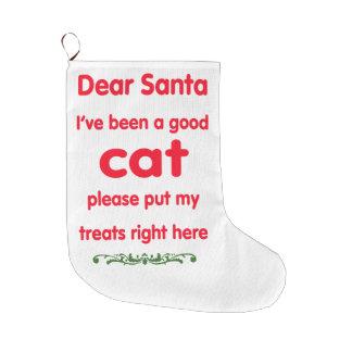 good cat large christmas stocking
