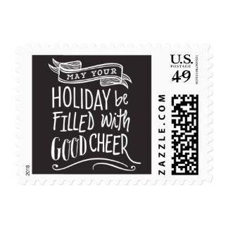 Good Cheer Holiday Postage Stamp