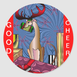 Good Cheer! Round Stickers