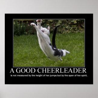 Good Cheerleader Cat Artwork Poster