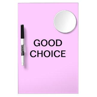 Good choice mirror and pen erase board