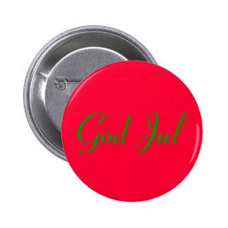 """good Christma"" meagre röd. Pinback Button"