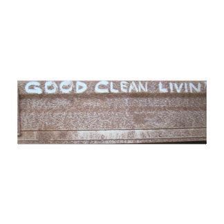 Good Clean Livin' 'Tailgate Talk' Canvas Print