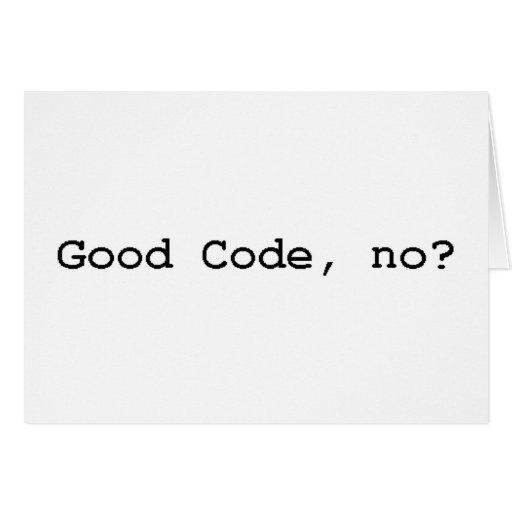 good code no card