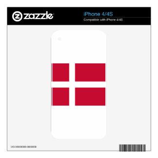 Good color Denmark flag Print iPhone 4 Decal