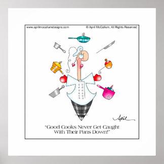 GOOD COOKS (Female) Cartoon Poster