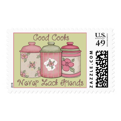 Good Cooks Never Lack Friends Postage Stamp