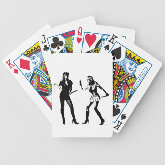 good cop/bad cop bicycle playing cards