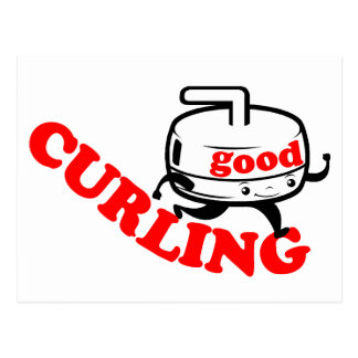 [ GOOD CURLING ] Retro Stone Guy Cards & Postcards