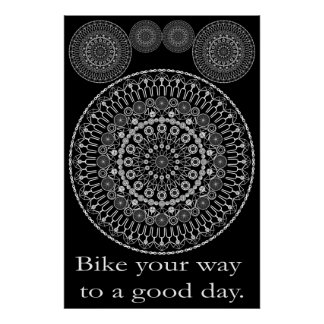 Good Day Bike Mandala Poster