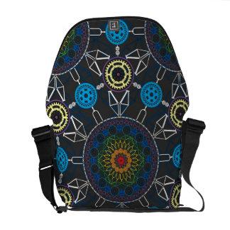 Good Day Bikes Mandala Array Messenger Bag