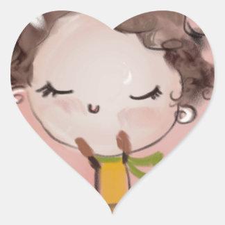 good day eva heart sticker